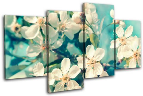 Cherry Blossom Teal Floral - 13-0334(00B)-MP04-LO